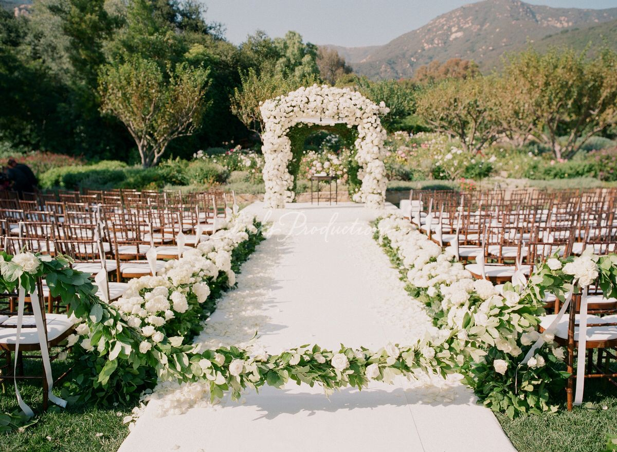 Cant have too many flowers aisle runner wedding