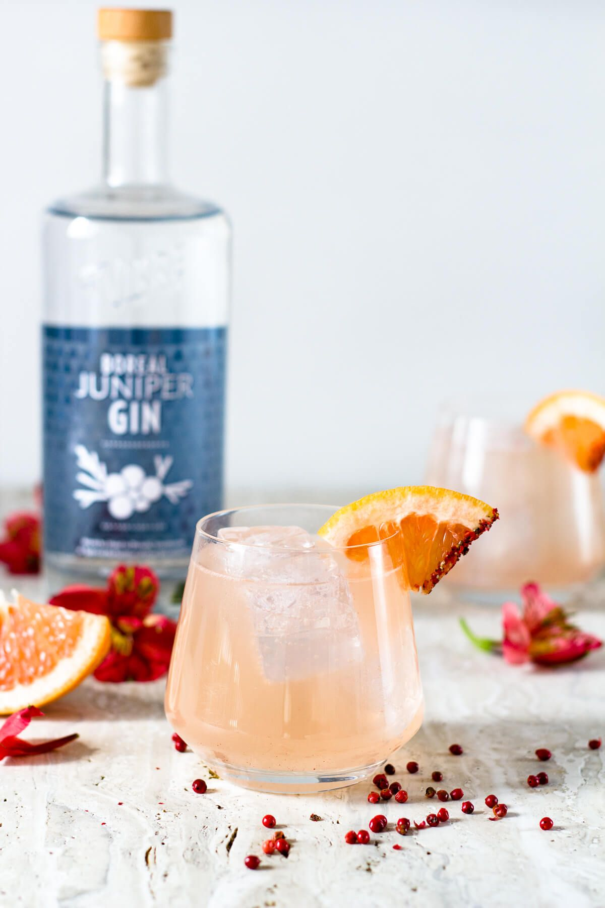 Grapefruit Pink Peppercorn Gin Tonic Designs Of Any Kind Recipe Gin And Tonic Gin Cocktails Fruit Cocktails