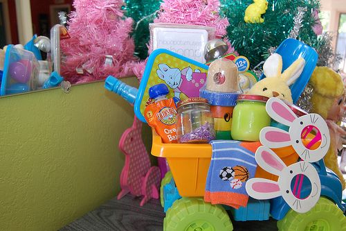 Easter basket from the kitchen homemade edible finger paint purple naughty secretary club i love to create baby easter basket negle Image collections