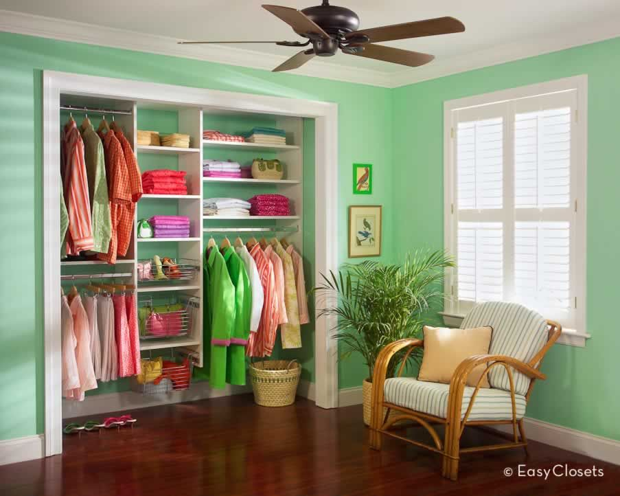 Do It Yourself Home Design: Key West Reach-in Closet Organizer