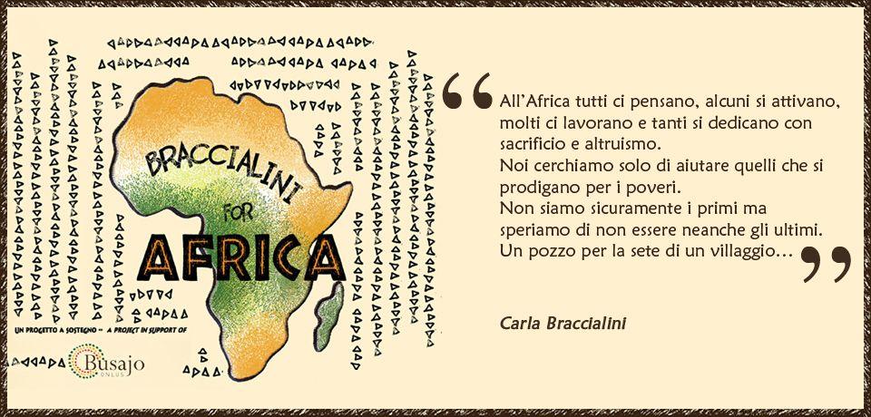 All'Africa tutti ci pensano, alcuni si attivano, molti ci lavorano e tanti si dedicano con sacrificio e altruismo. Noi cerchiamo solo di aiutare quelli che si prodigano per i poveri. Non siamo sicuramente i primi ma speriamo di non essere neanche gli ultimi. Un pozzo per la sete di un villaggio... Carla #Braccialini