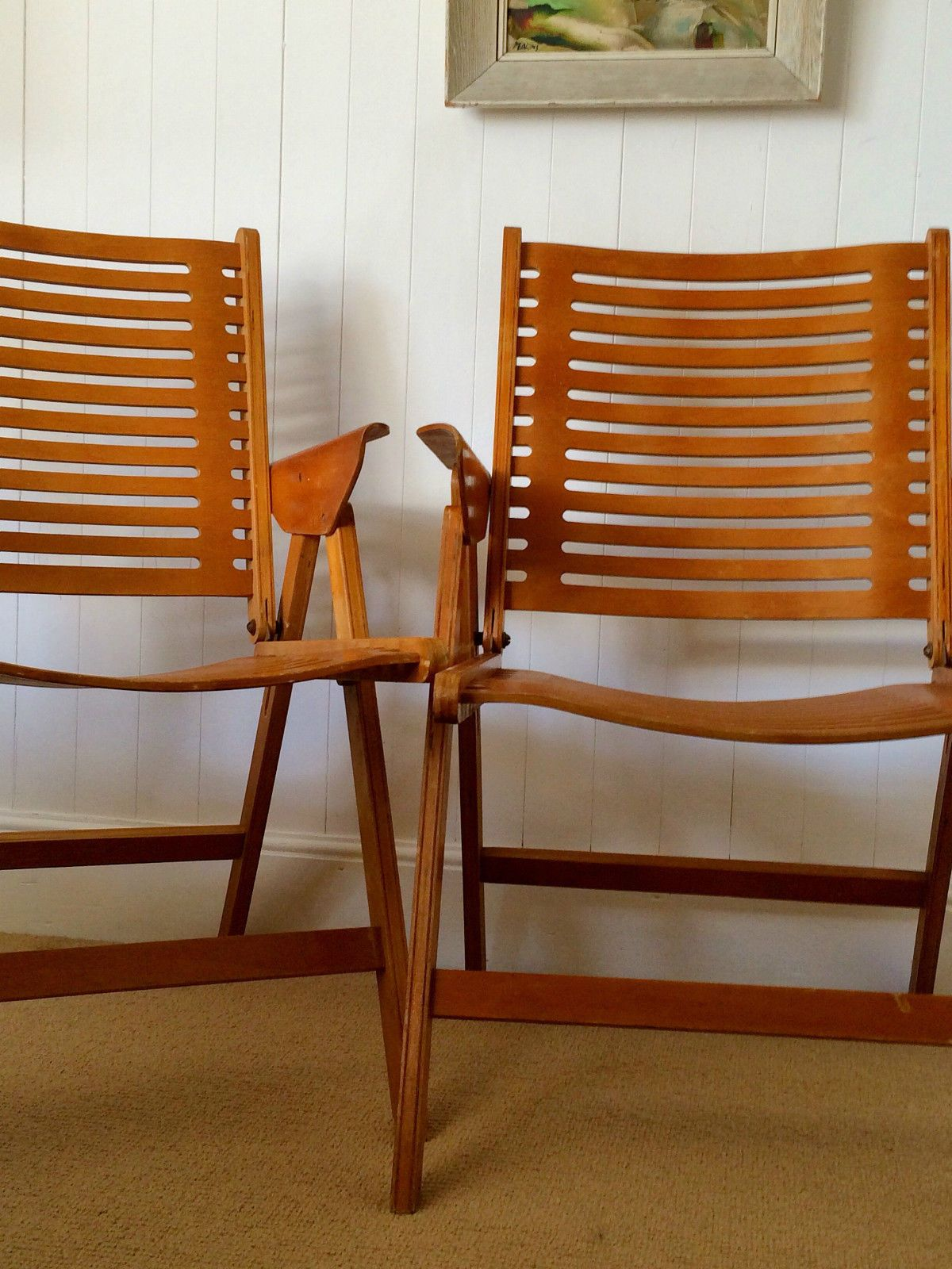 VINTAGE Pair REX Chairs 1950u0027s Niko Kralj MID CENTURY MODERN Scandinavian  In Antiques, Antique Furniture