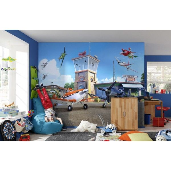 fresque murale disney planes terminal papier peint maxi. Black Bedroom Furniture Sets. Home Design Ideas
