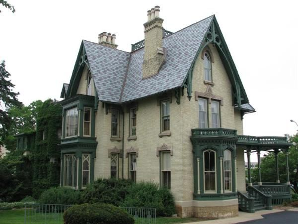 Gothic Victorian House   Lake-Peterson House - Rockford, Illinois ...