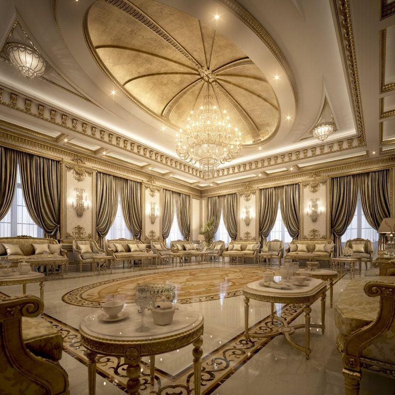 Max Classical Vip Reception Luxury Ceiling Design Classic