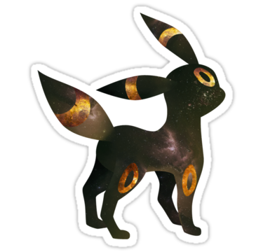 Umbreon Silhouette by cluper | Laptop Stickers | Pinterest
