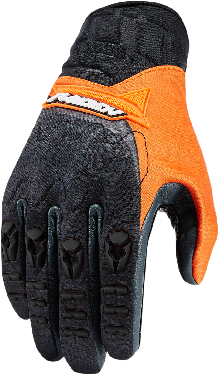 ICON Raiden UX Glove Orange Clothing brand, Motorcycle