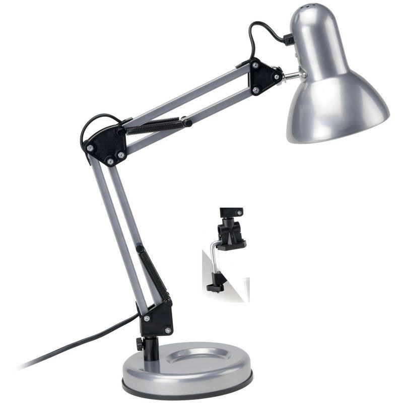 Lampe d\'architecte design gris argent ATONIK   Bureaus