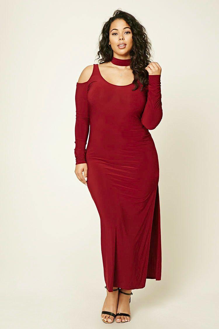 a6502f01839 Forever 21+ - A knit maxi dress featuring a choker neckline