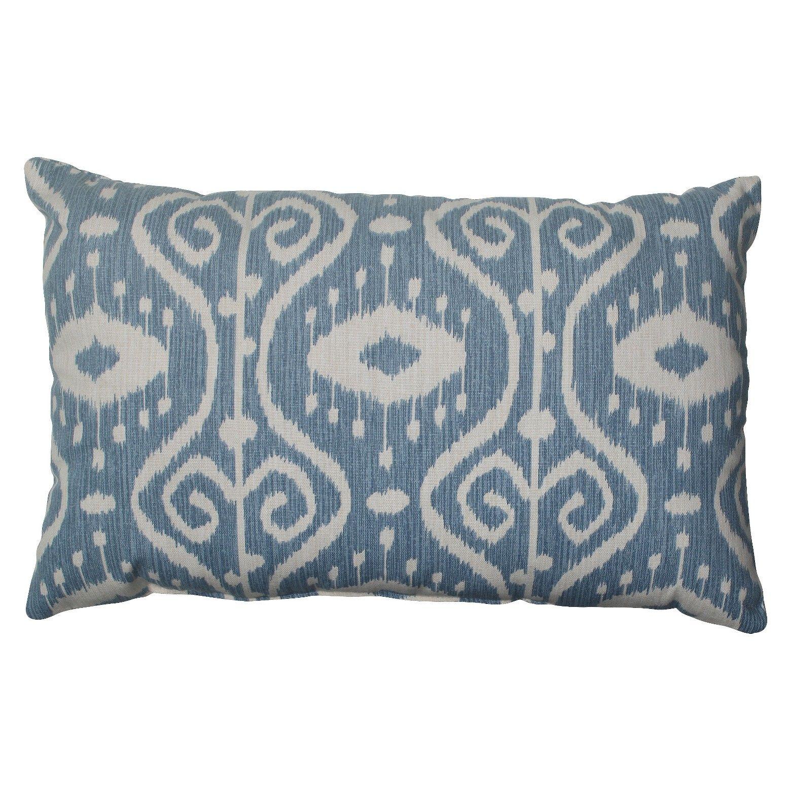 Pillow Perfect Empire Throw Pillow Blue  Pillow Perfect -