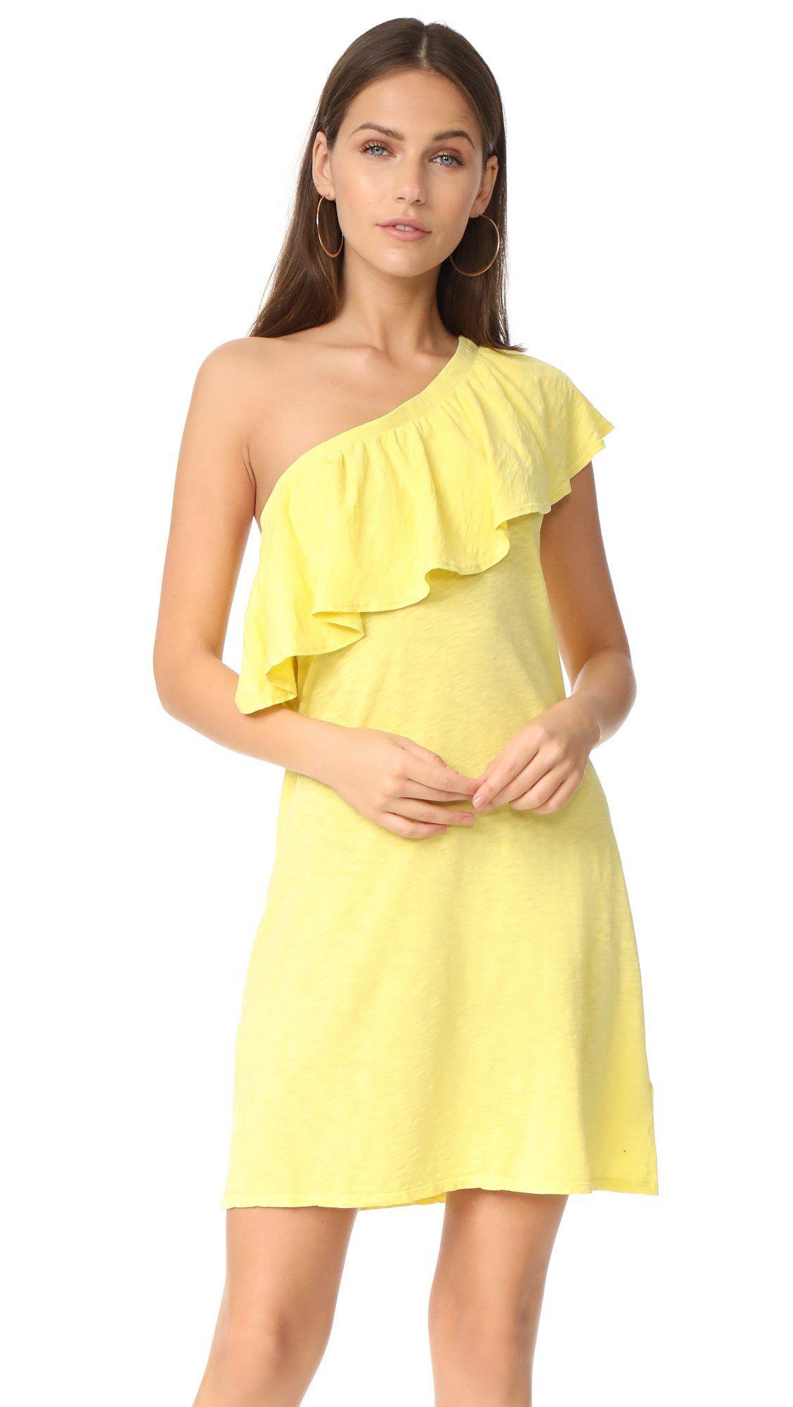 Velvet by graham u spencer womenus cotton slub one shoulder dress
