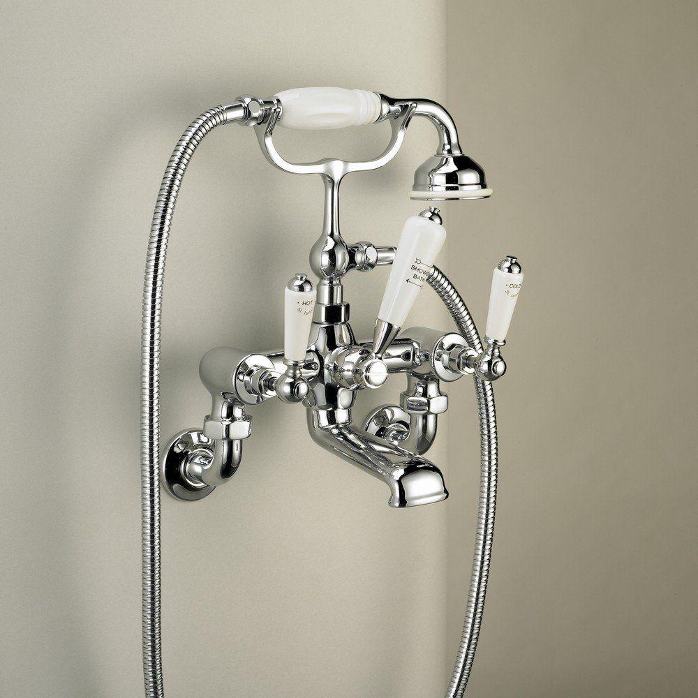 St James Traditional Wall Mounted Bath Shower Mixer Lever Handle Chrome Sjc350 510 Bath Shower Mixer Shower Bath Hidden Shower