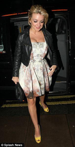 Busting out again! Sheridan Smith wears a cleavage