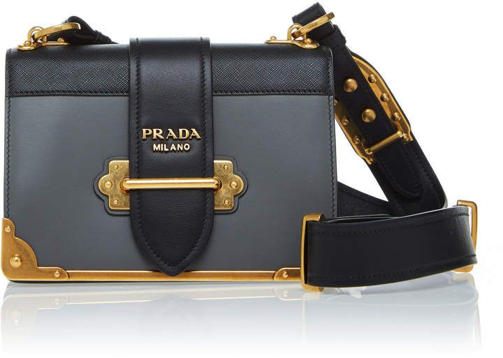 9a692f8d4b32 Prada Cahier Two-Tone Leather Shoulder Bag