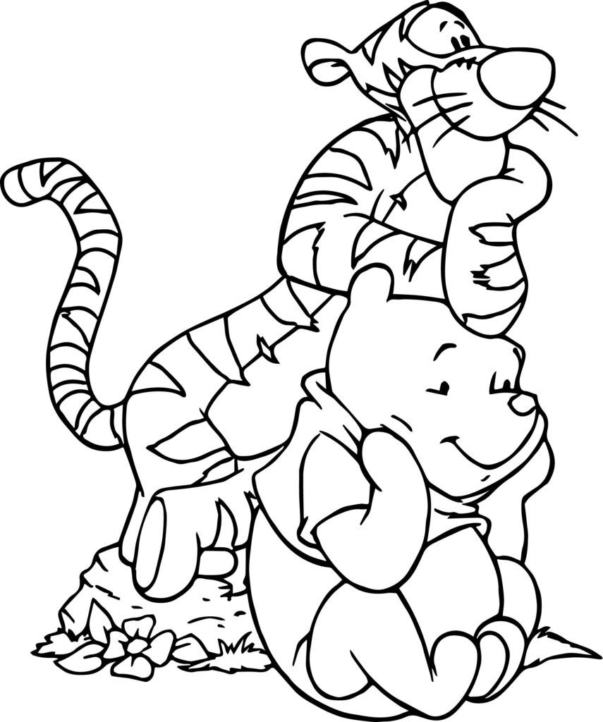 winnie the pooh coloring pages bear