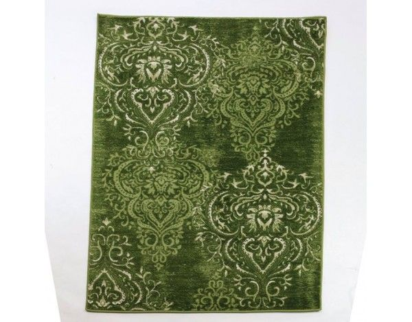 Green Cartouche Floor Rug From The Graphic Range 2 Tone