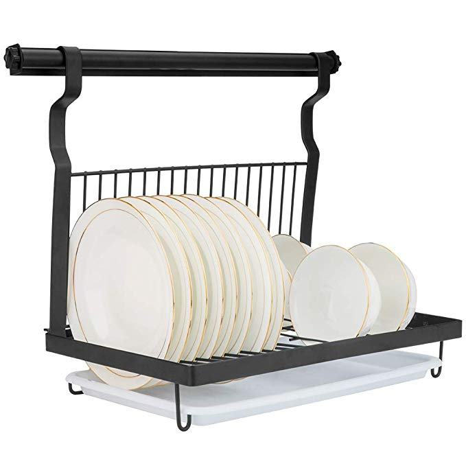 Amazon Com Eastore Life Wall Mounted Dish Rack With Hanging Rod