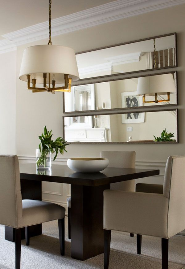 An Artful Illusion Decorating With Mirrors Dining Room Small Dining Room Wall Decor Dining Room Walls