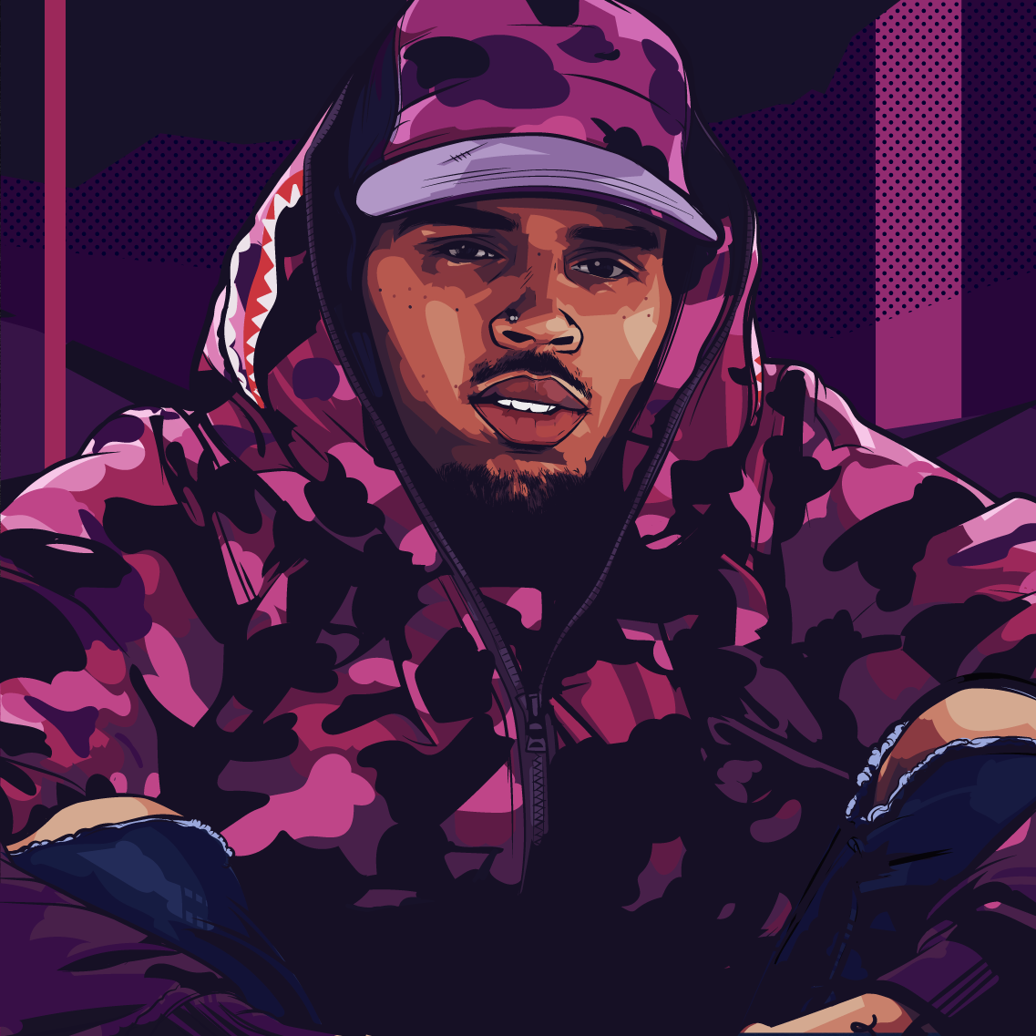 Chris Brown Art by Samona Lena