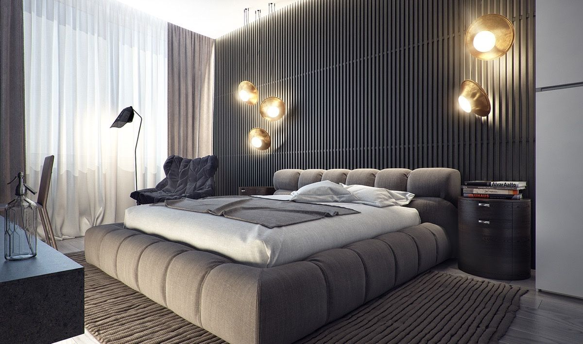 Inspiring Examples Of Use Of Grey In Luxury Interior Design Best One Bedroom Apartment Designs Example Design Decoration