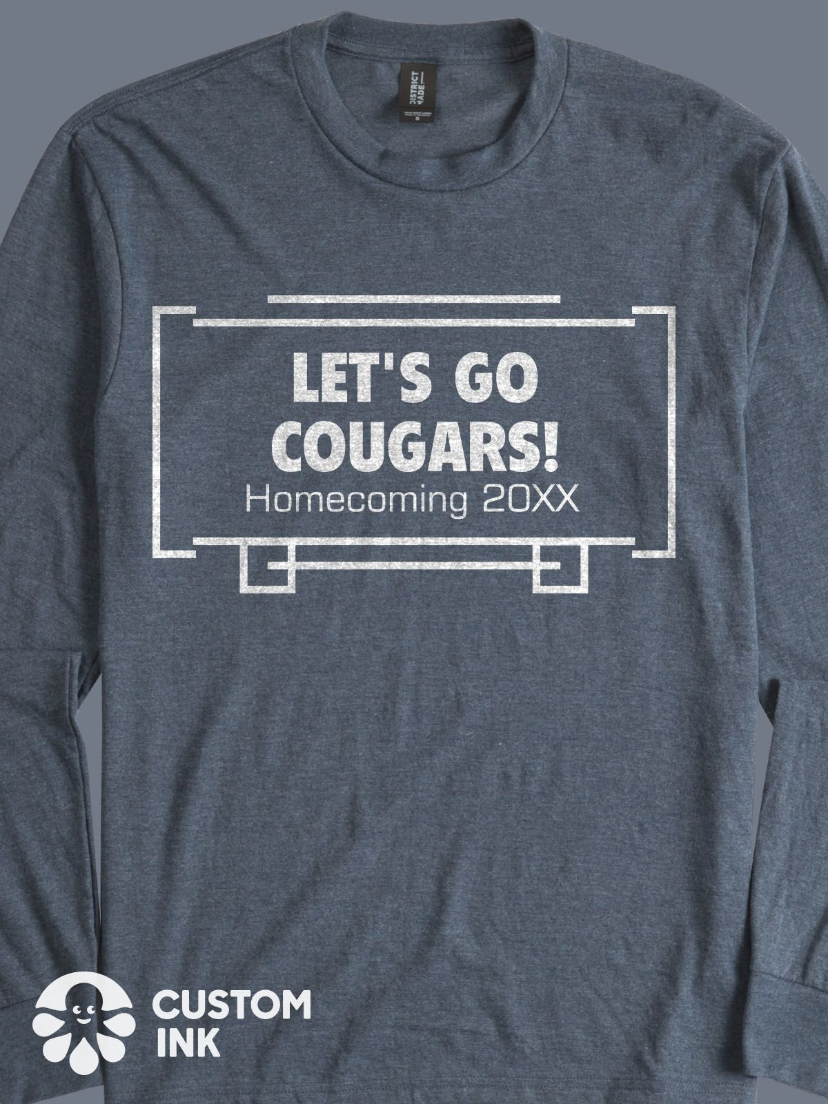 Homecoming custom shirt design idea for k12, high school, middle ...