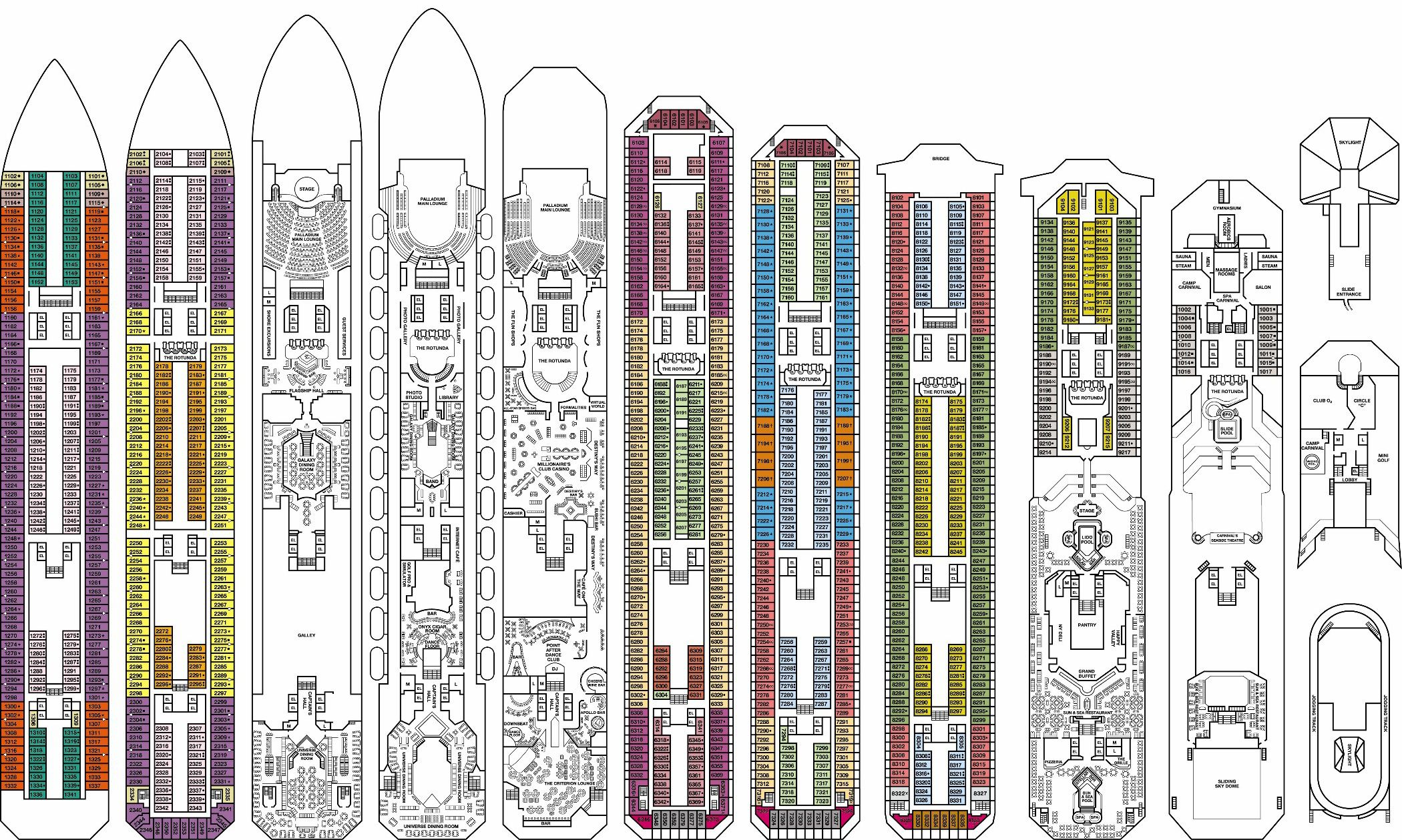 Deck Plan RCL Enchantment Of The Seas Pinterest