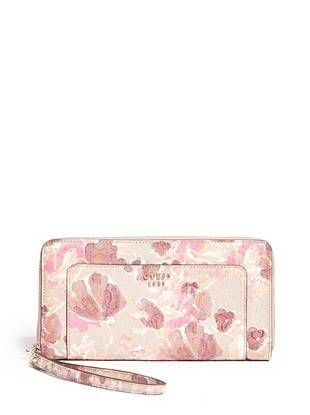 Marian Floral-Print Zip-Around | shop.GUESS.com
