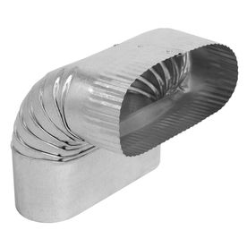 Imperial 6 In X 6 In Galvanized Steel Oval Duct Elbow Hvac Duct Duct