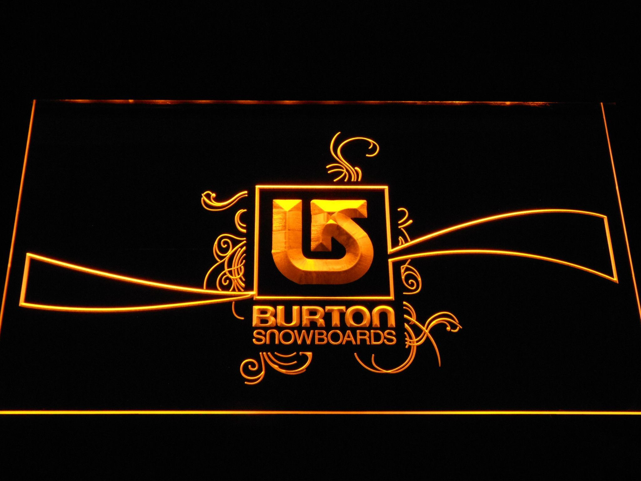 Burton Snowboards Led Neon Sign Burton Snowboards Snowboards And