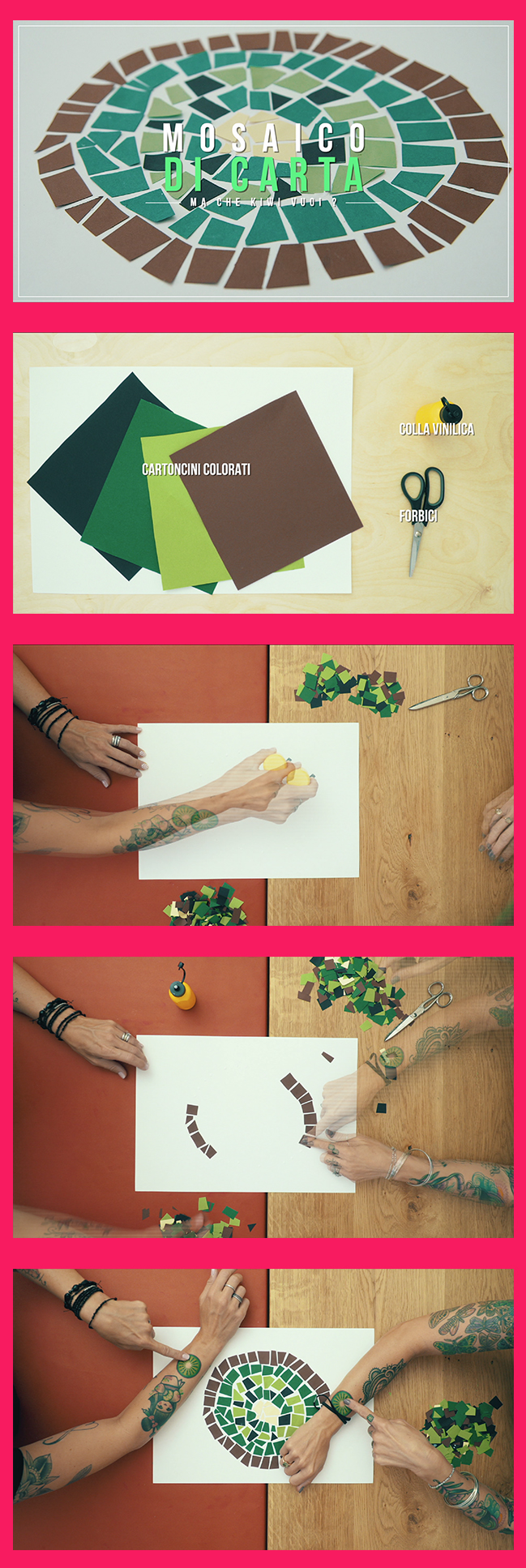 DIY - MOSAICO  L'antica arte del mosaico reinterpretata e realizzata da Valentina e Carolina ;)