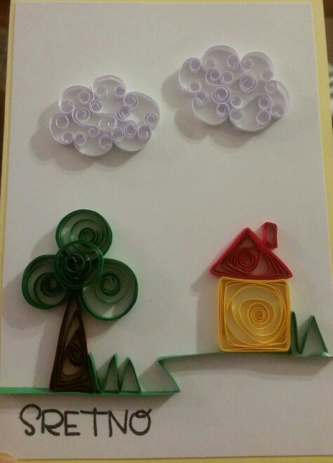 Best wishes quilling card