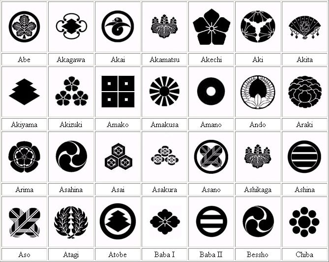 Samurai Family Crests On The Samurai Archives Japanese History Page