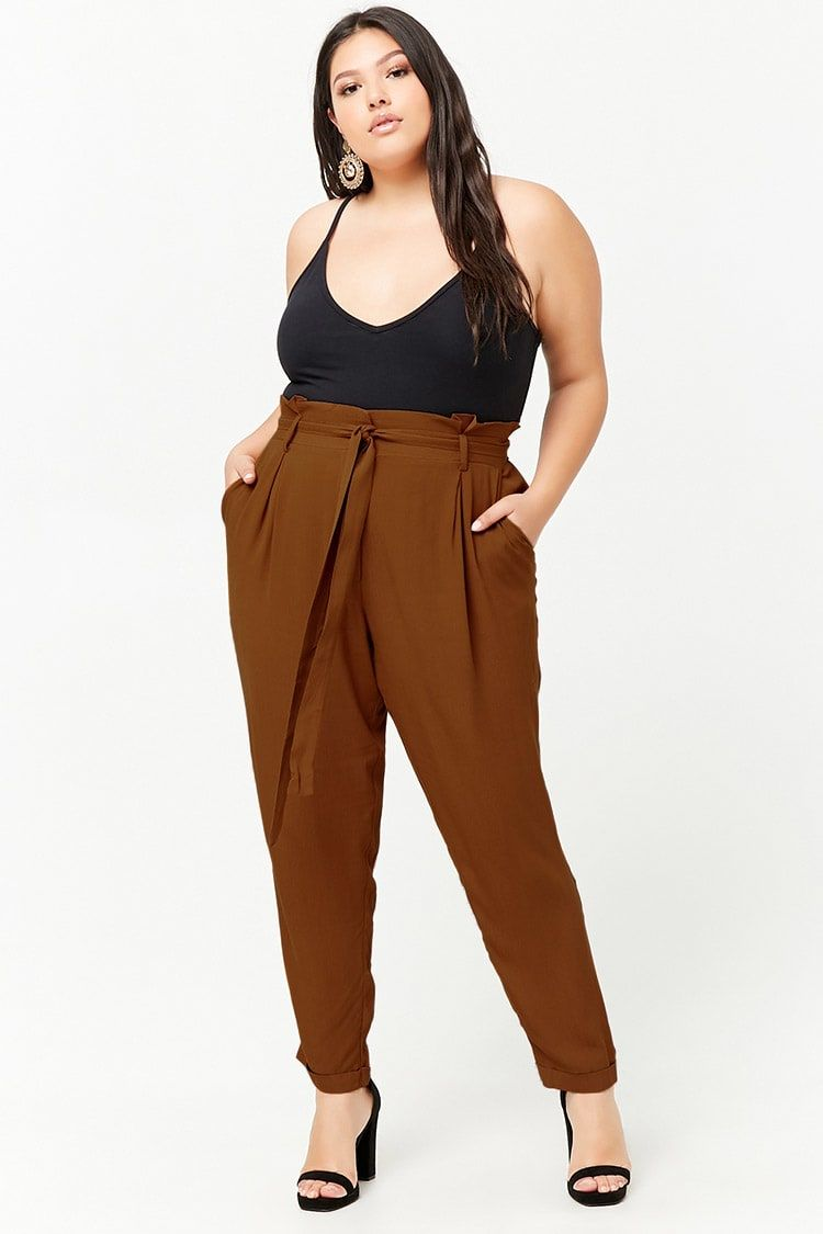 222cb07c0ef Product Name Plus Size Paperbag-Waist Pants