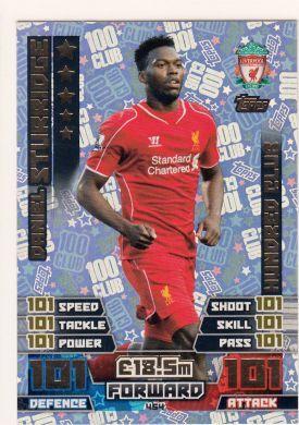 Match Attax 14 15 Daniel Sturridge Hundred Club Trading Card Match Attax Match Football Poster