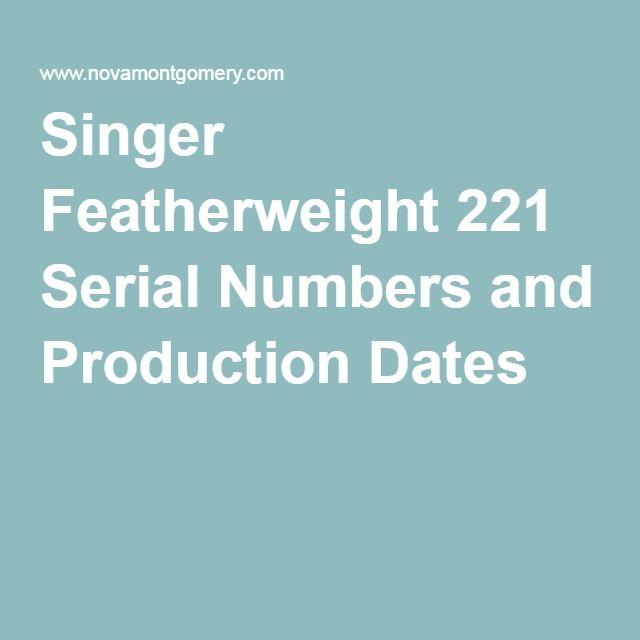 Machine sewing singer dating featherweight DATING SINGER