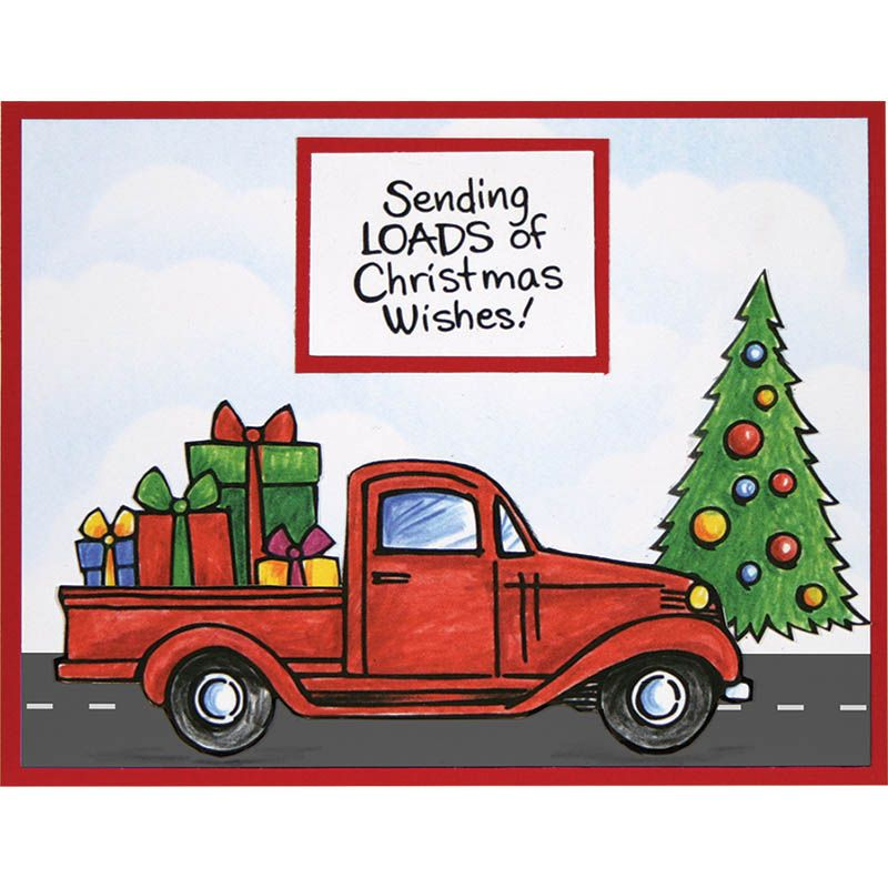 Free Christmas Tree Pick Up: Truck Tidings Cling Stamps & Die Set