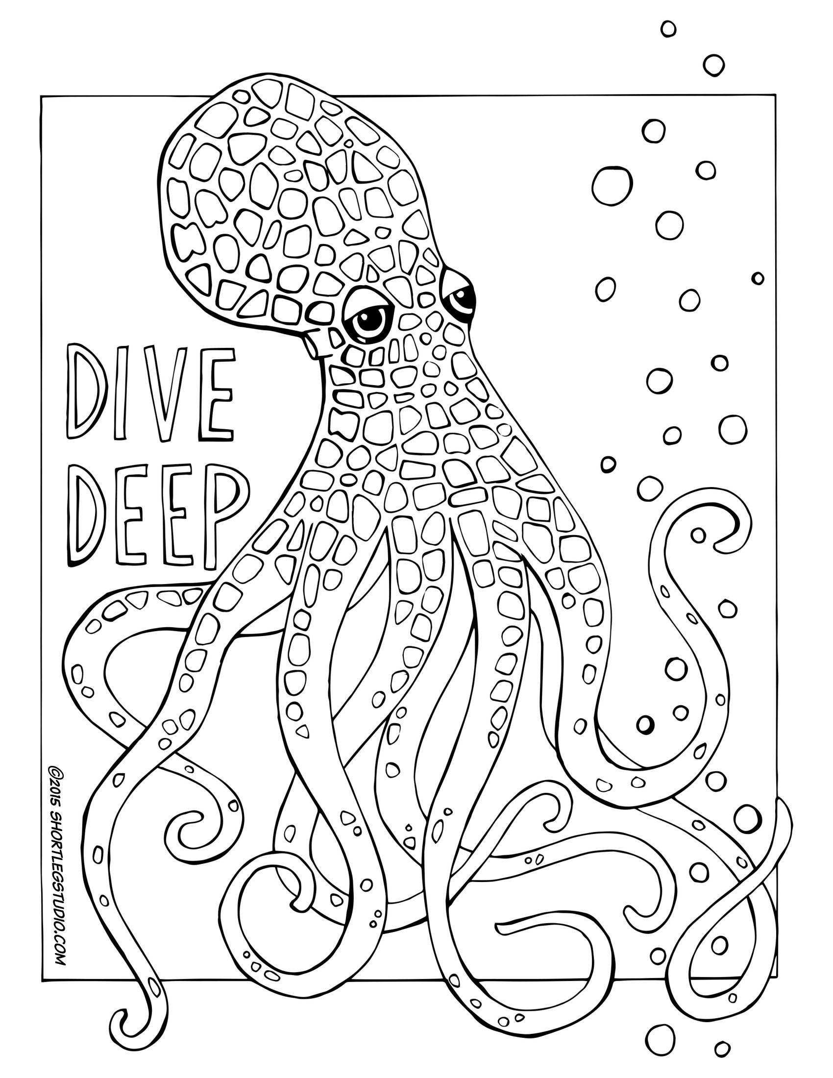 Octopus Coloring Page Octopus Coloring Page Meditative Coloring Coloring Pages