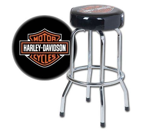 Swell Harley Davidson H D Bar Shield Single Ring Bar Stool Caraccident5 Cool Chair Designs And Ideas Caraccident5Info