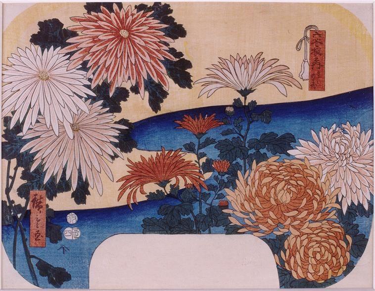 Résultats de recherche d'images pour «chrysanthèmes estampes japonaises»