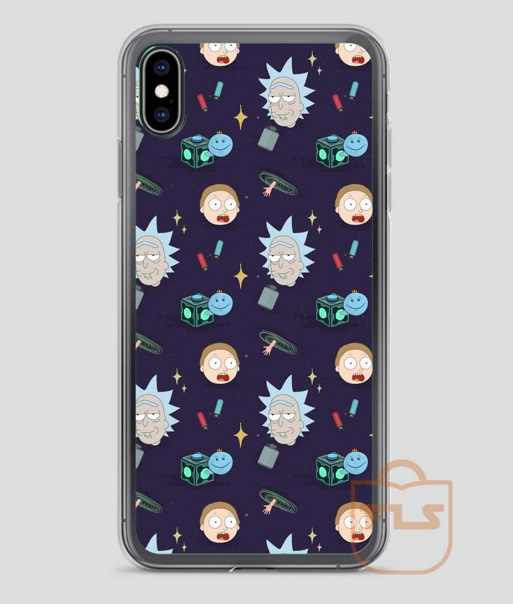 best sneakers 8beed 7d3ef Rick and Morty Pattern iPhone Case X XS XR XS Max in 2019 | Custom ...