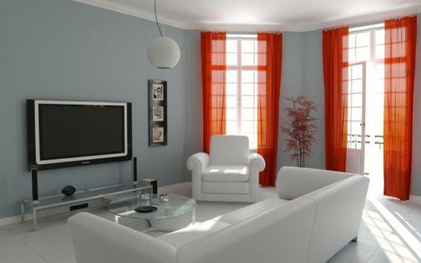 wandfarben pallette fürs wohnzimmer - graue gestaltung und rote - wohnzimmer ideen graue wand