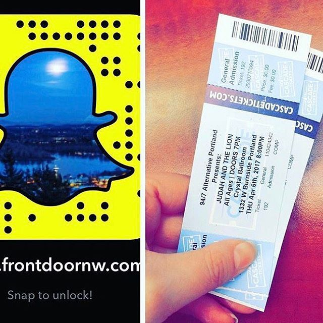 👏🏻🎉✨🎈CONTEST TIME!!!🎈👏🏻🎉✨ Only a few hours left to follow us on Snapchat and be entered in a drawing to win a pair of tickets to Judah & the Lion at the Crystal Ballroom!!! Winner will be announced Wednesday 4/5/17 at 4pm. We will be there and so should you!!! Happy Snapping 😎#contest #win #concert #judahandthelion #frontdoornw #frontdoorrealty #sweepstakes #contestday #contests #contestagram #winning #crystalballroom
