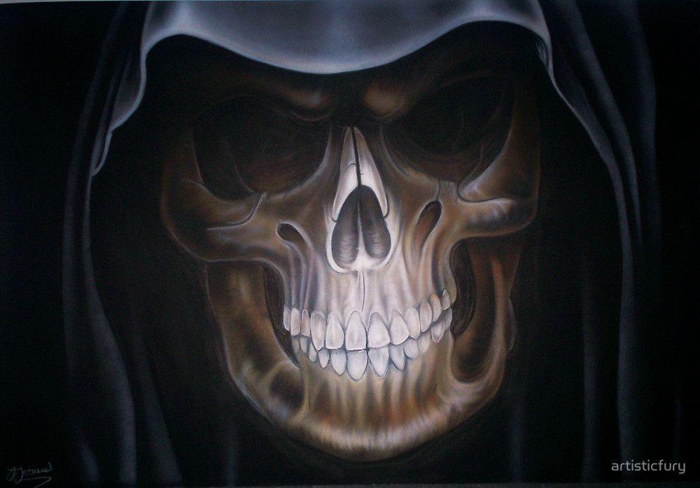 Grim Reaper Airbrush Art Google Search Auto Graphics