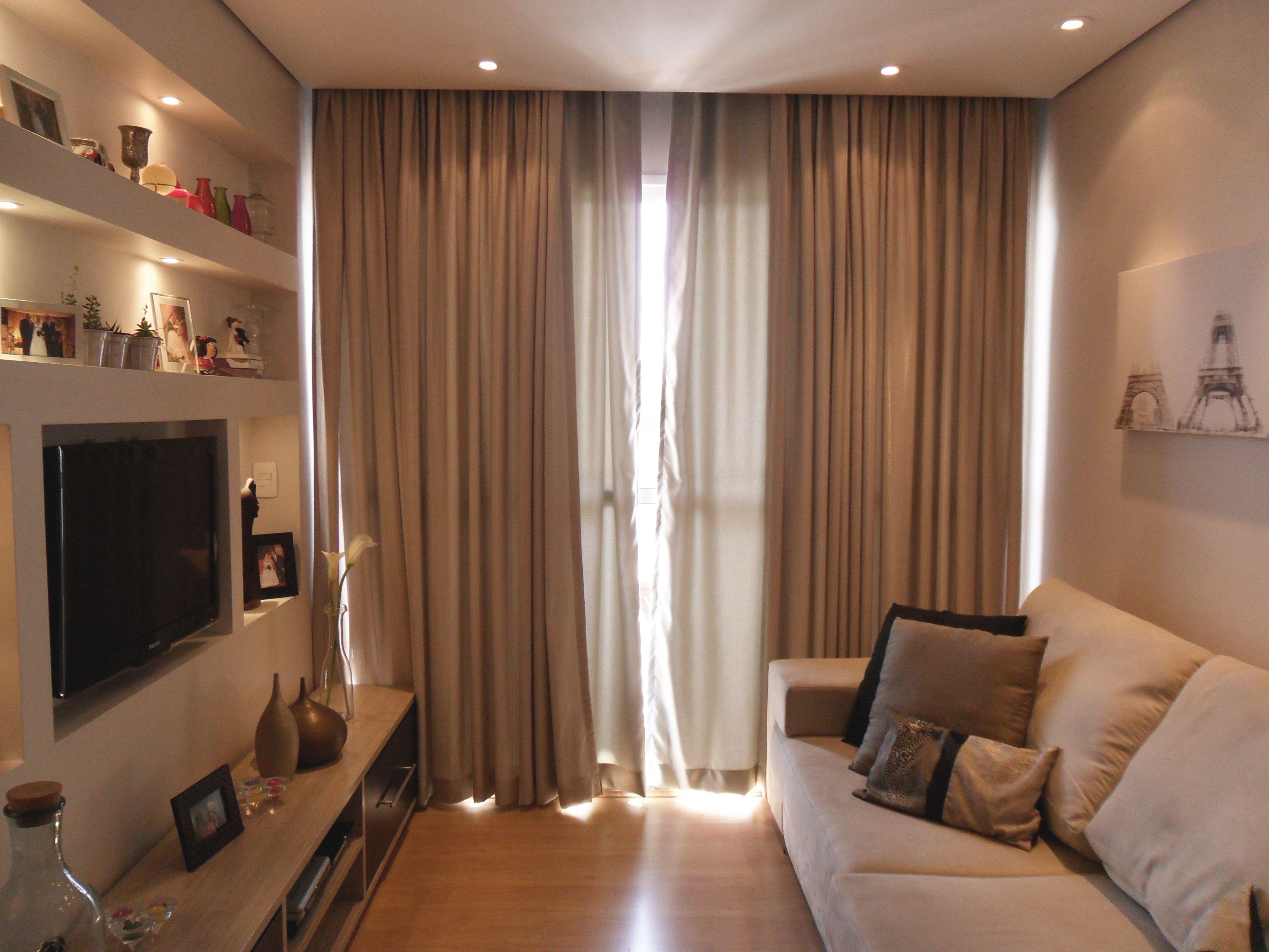 Sala De Estar Decora O Interiores Apartamento Pesquisa Google  -> Cortina Sala Apartamento