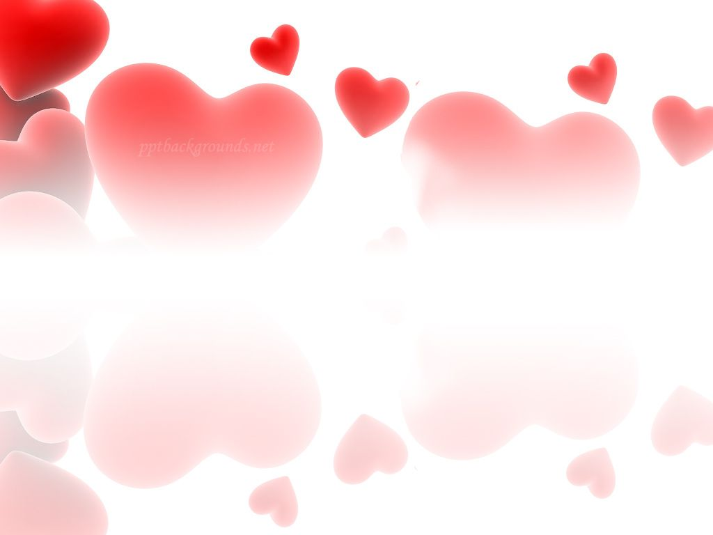 Red Love Hearts  Valentines Day Backgrounds