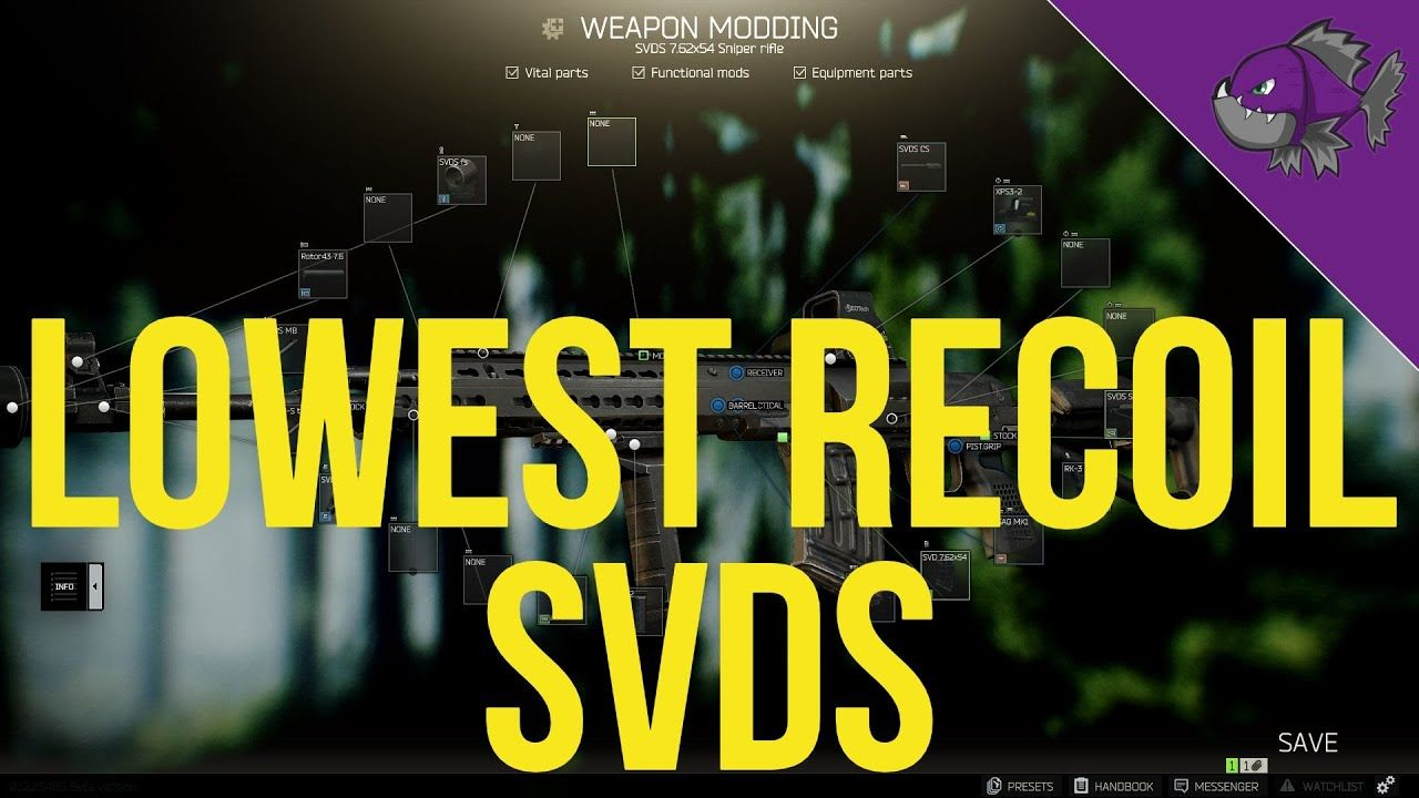 Lowest Recoil SVDS Modding Guide 0.12 Escape From