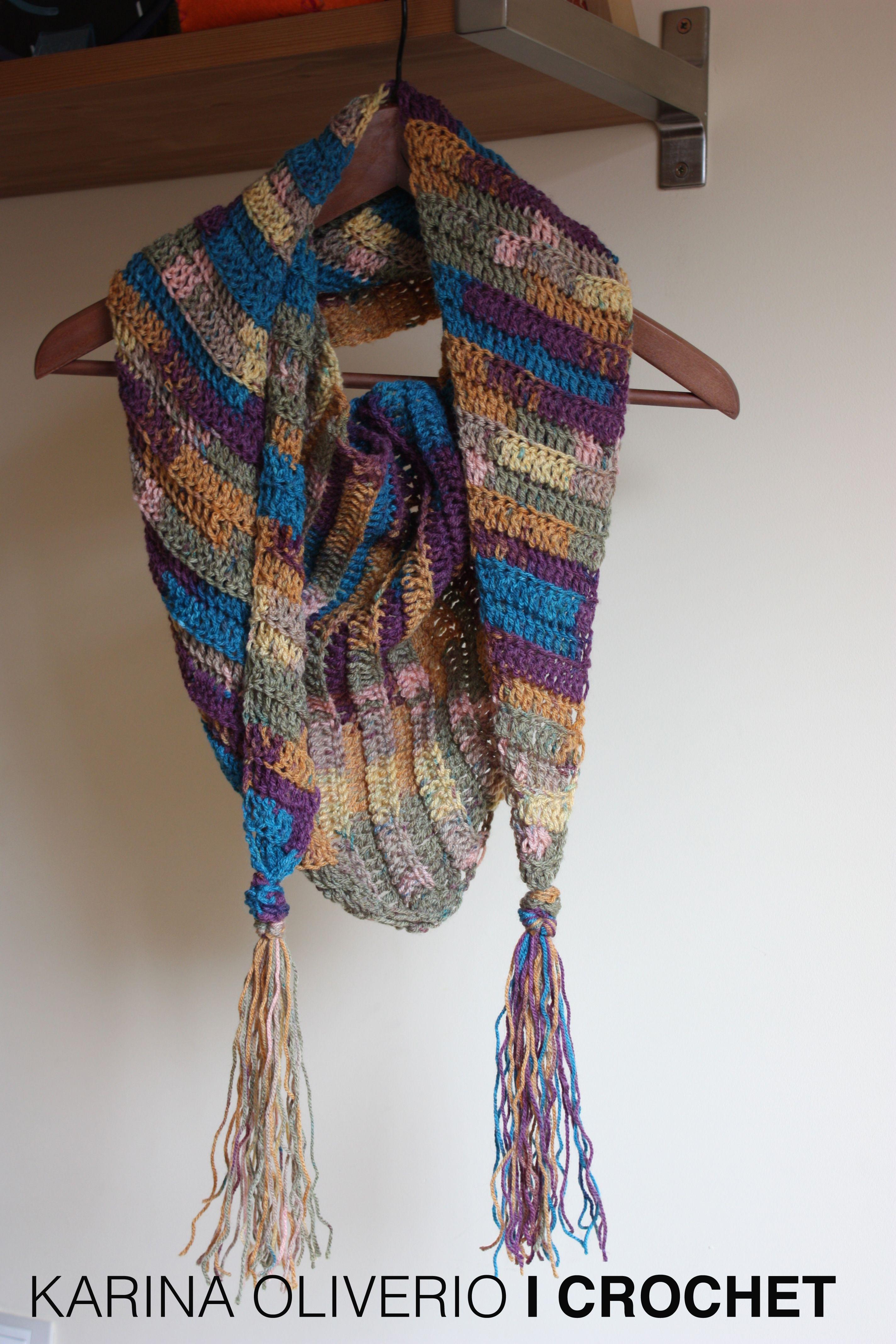 Crochet Baktus Scarf Handmade Crocheting Pinterest Crochet