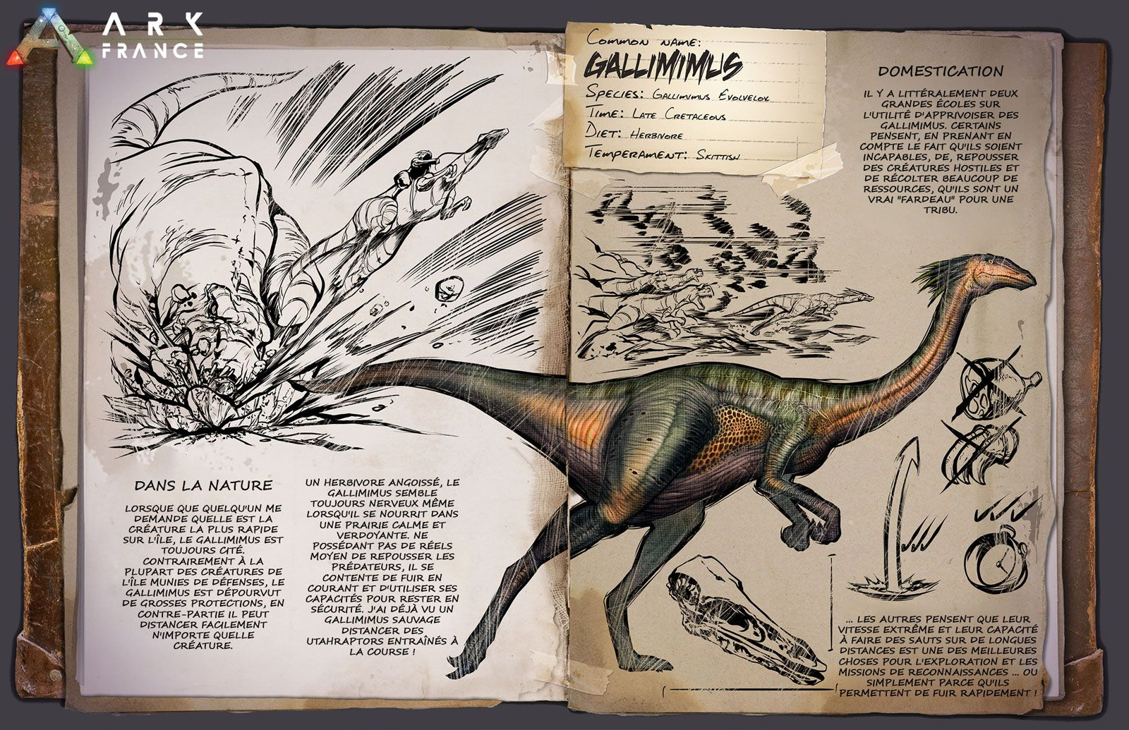 Gallimimus Dossier Fr Jpg 1600 1035 Ark Survival Evolved Game Ark Survival Evolved Survival Books 🌟 check out nitrado game servers for high quality server hosting! pinterest