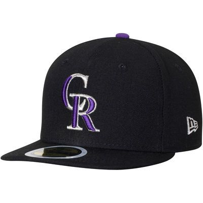 dbadedeb680 Colorado Rockies New Era Youth Authentic Collection On-Field Game 59FIFTY  Fitted Hat - Black