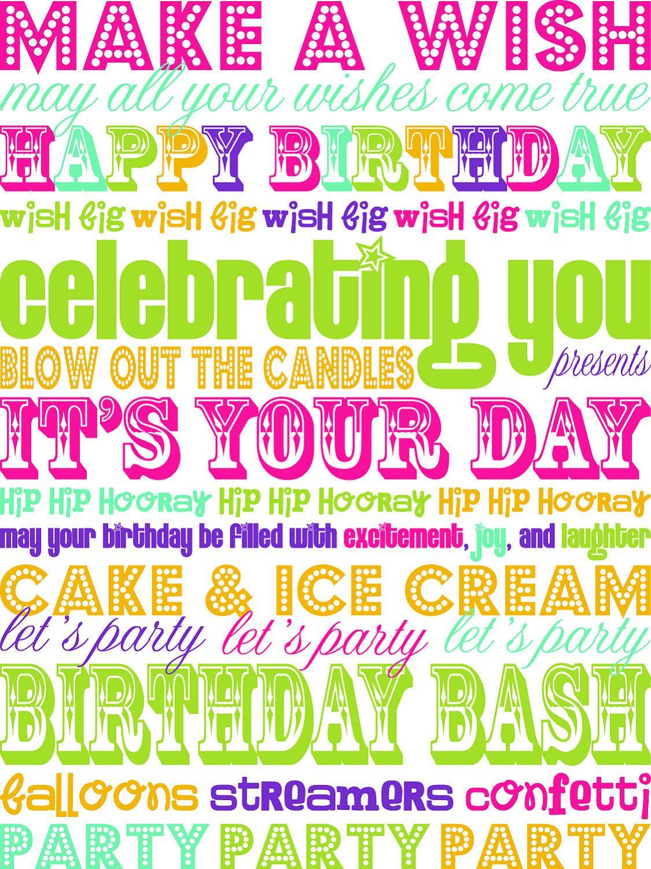 Birthday happy birthday pinterest subway art birthday